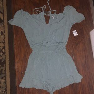 NWT SMALL TEAL CHARLOTTE RUSSE ROMPER